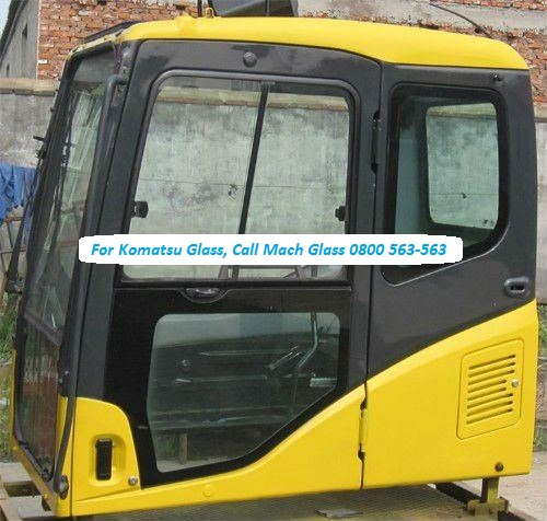 Komatsu Cab Glass and Windsows